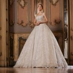 princess wedding dress lace gown beaded Perth bridal elegant collection feminine elegant stunning italian modern bride A-line beaded cap sleeves bespoke custom