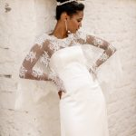 perth wedding dress lace gown beaded Perth bridal elegant collection italian modern bride lace cape