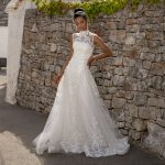 perth wedding dress lace gown beaded Perth bridal elegant collection italian modern bride high neck