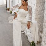 perth wedding dress lace gown beaded Perth bridal elegant collection italian modern bride jumpsuit
