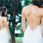 low back wedding dress lace gown beaded Perth bridal