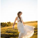 colour wedding dress lace gown beaded Perth bridal