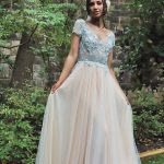 Perth bridal colour wedding dress lace gown formal sheer bodice