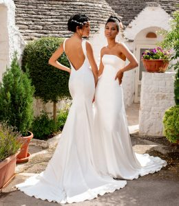 low back wedding dress lace gown beaded Perth bridal elegant collection italian modern bride